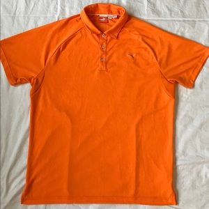 Men's Puma golf orange polo size L